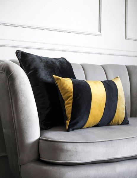 Stripes czarno złota poduszka dekoracyjna 50x30