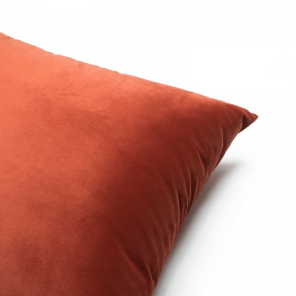 Velvet pomarańczowa poduszka dekoracyjna 50x30