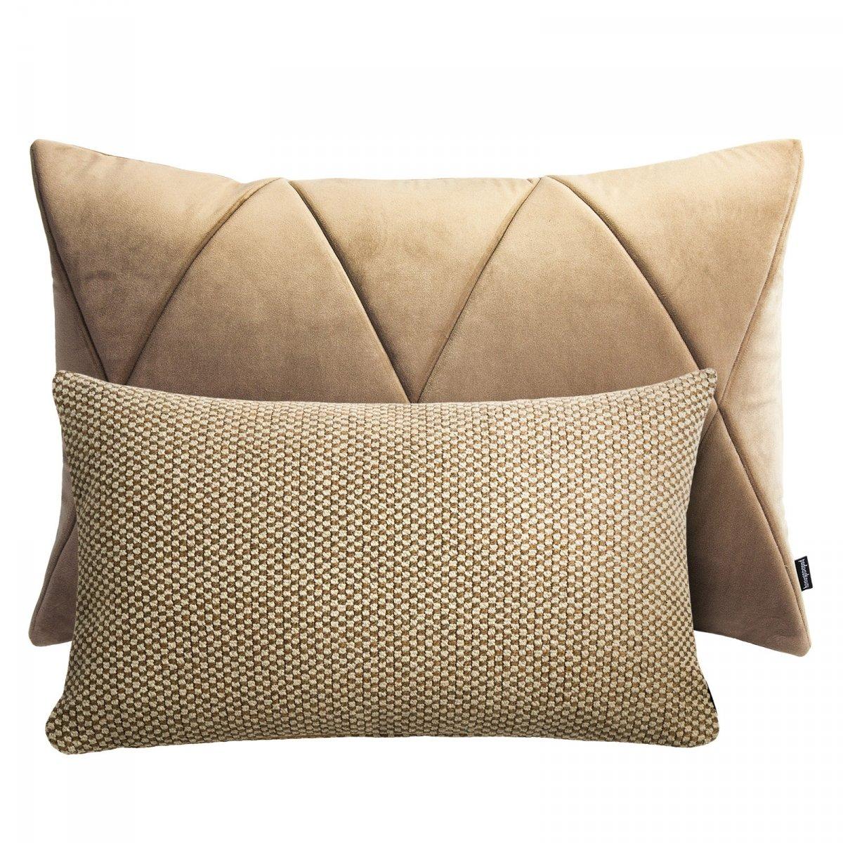 Beżowy zestaw poduszek dekoracyjnych Touch + Ori