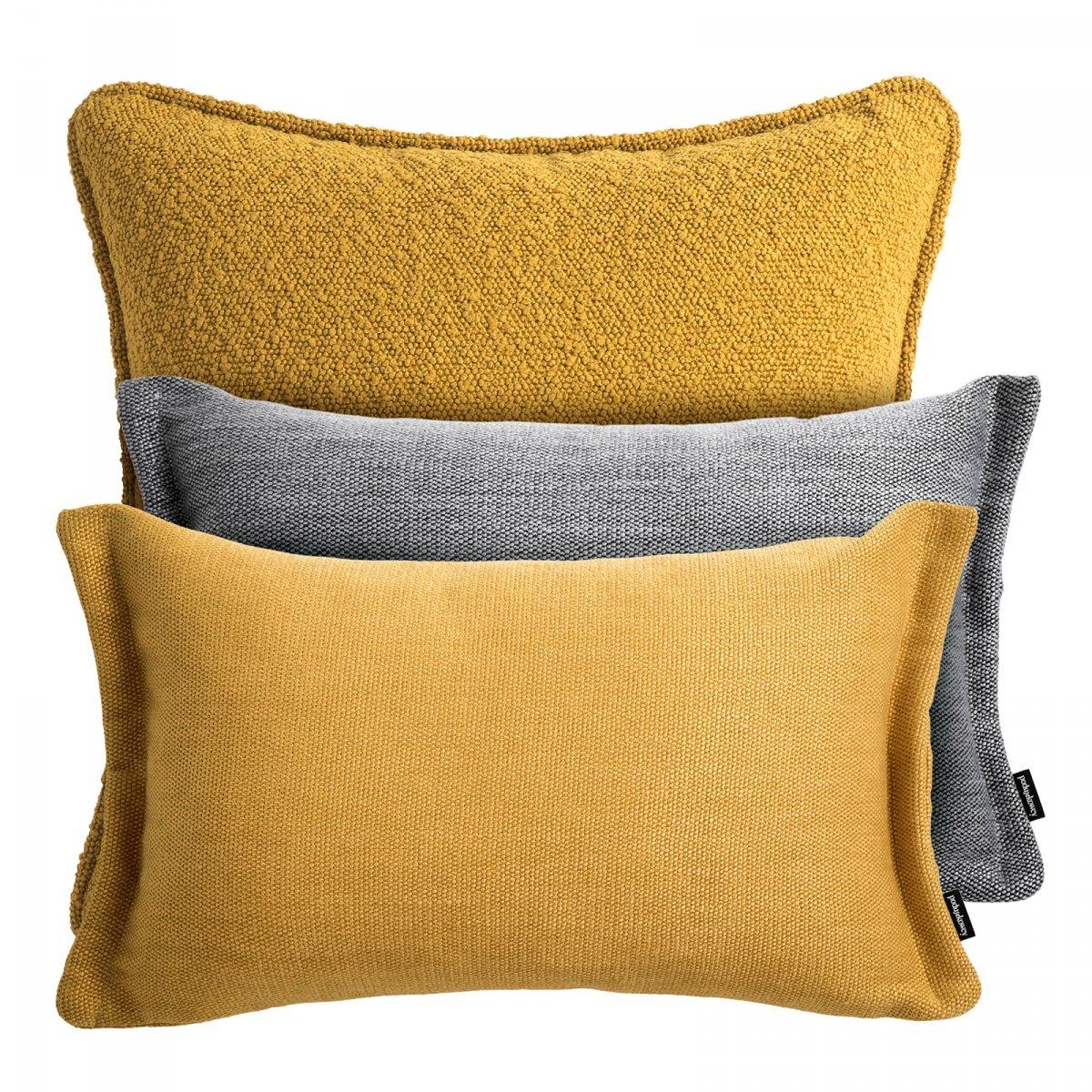 Żółto szary zestaw poduszek dekoracyjnych Copehaga + Fitto