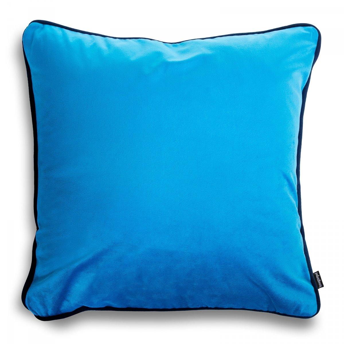 DUO turkusowa poduszka dekoracyjna 40x40