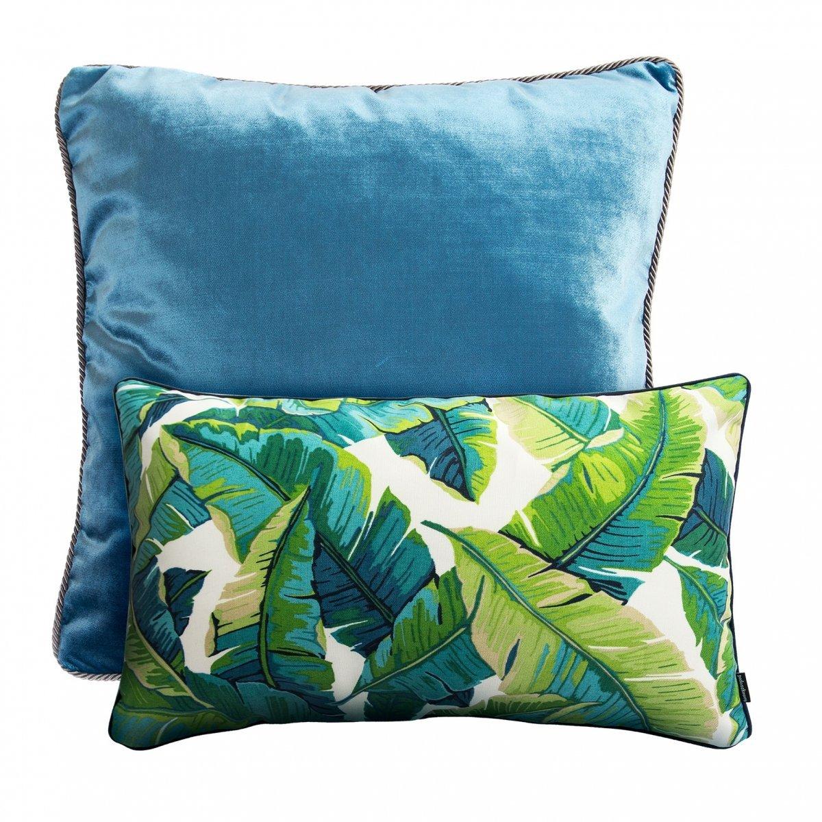 Zestaw poduszek dekoracyjnych Liście Glamour