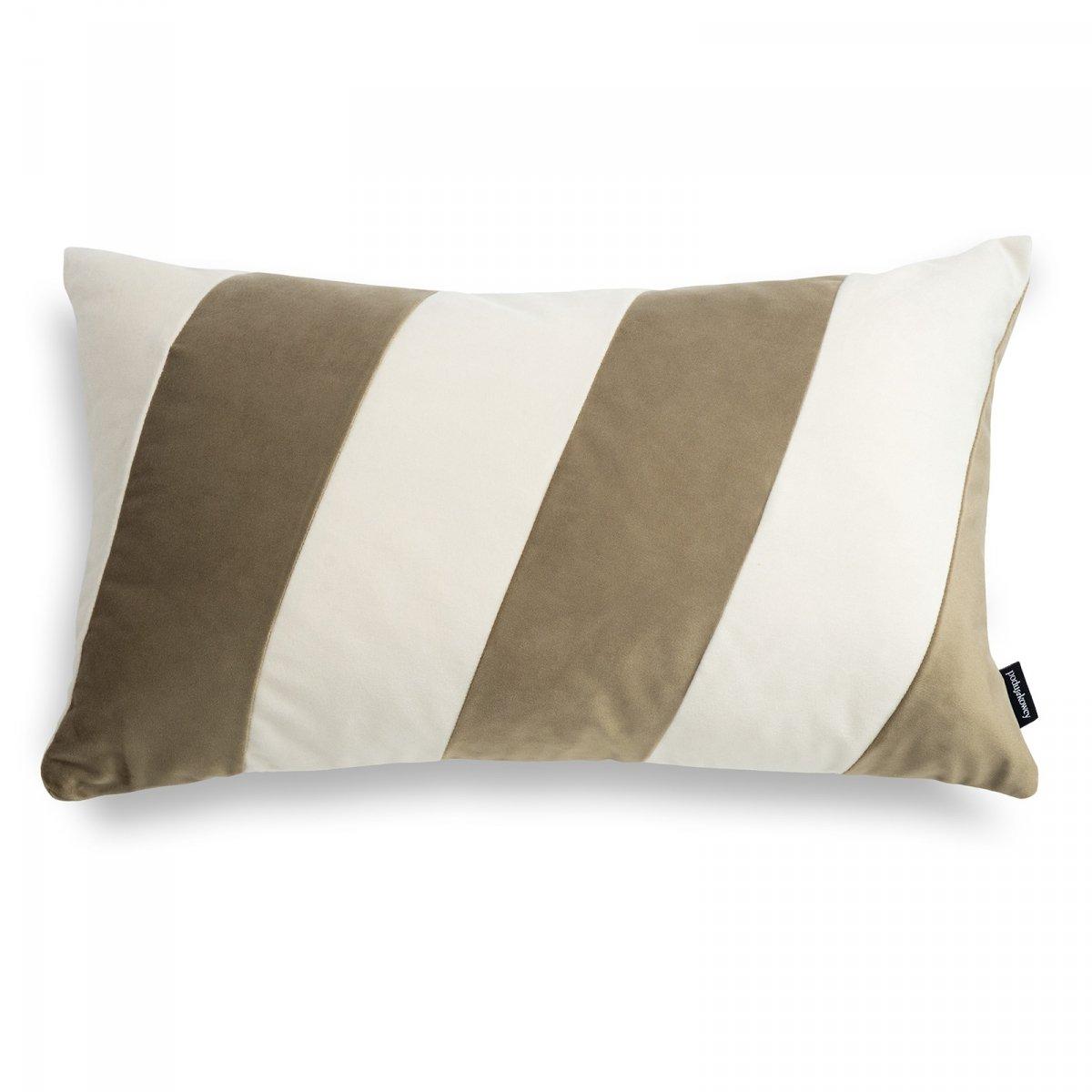 Stripes beżowo kremowa poduszka dekoracyjna 50x30