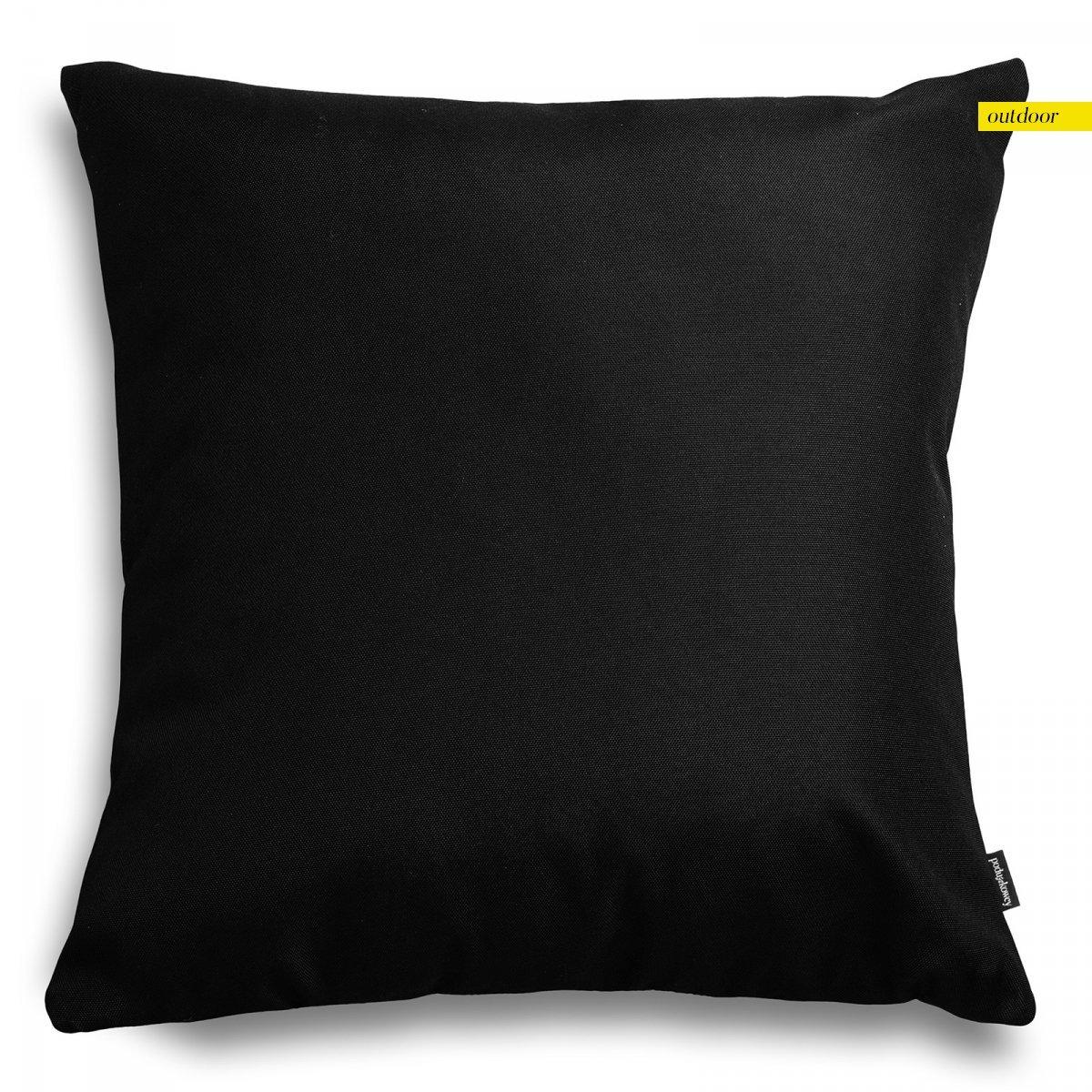 Czarna poduszka ogrodowa 45x45