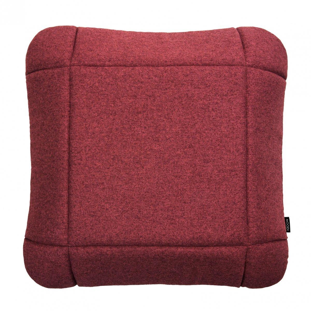 Grid 45 Czerwona poduszka dekoracyjna Moodi