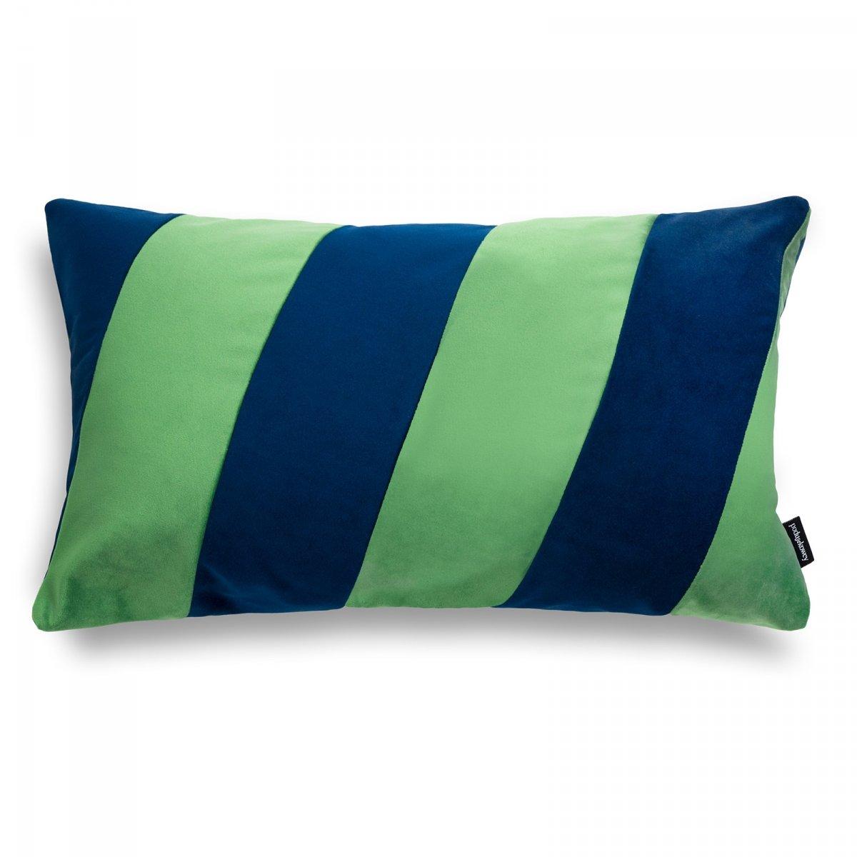 Stripes zielono granatowa poduszka dekoracyjna 50x30