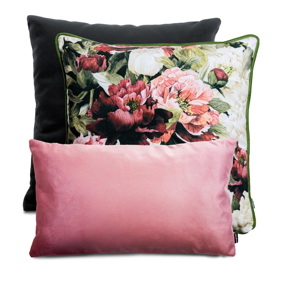 Różowy zestaw poduszek dekoracyjnych Peonie