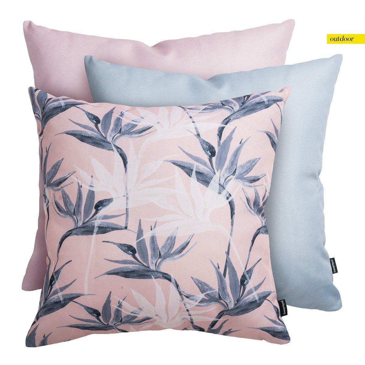Różowy zestaw poduszek ogrodowych Strelicja
