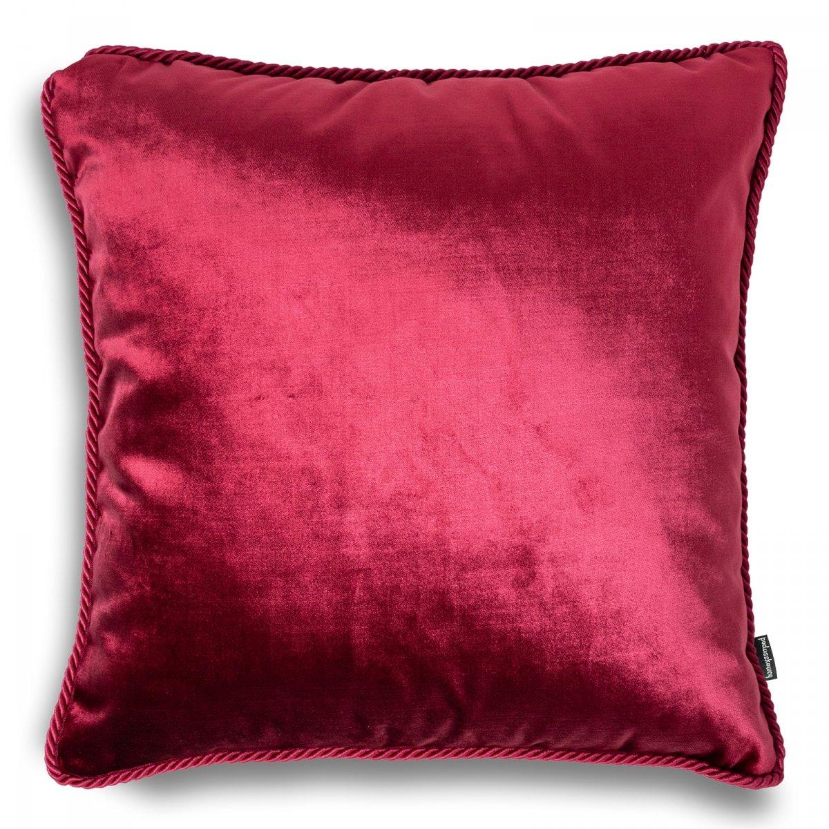 Bordowa poduszka dekoracyjna Glamour