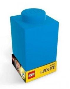 Lampka silikonowa Klocek LEGO niebieski