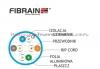 FIBRAIN DATA Quick kat.6 U/FTP 450Mhz, drut, LSZH niebieski