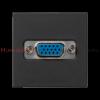KONTAKT SIMON Płytka K45 złącza VGA 45x45 szary grafit