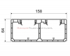 KOPOS Kanał / Koryto kablowe PK160x65D 2m