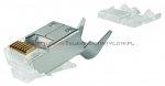 Wtyk RJ45 Telegartner kat.6 ekranowany AWG 24-27 z insertem drut/linka