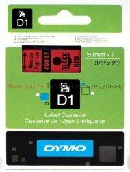 DYMO D1 Taśma 9mm/7m Czarno/Czerwona