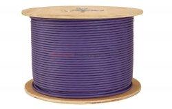 SOLARIX kabel F/UTP, drut, LSOH, fioletowy, kat.6 - 500m