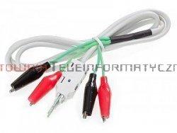 Kabel pomiarowy do złącz telefonicznych typu LSA/KRONE 4P, złącza krokodylki