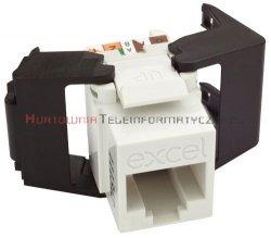 EXCEL keystone kat.6 UTP biały, Low Profile, beznarzędziowy