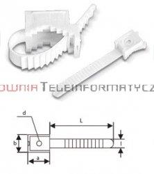 Uchwyt paskowy mocowany do ściany fi 30mm (100szt.)