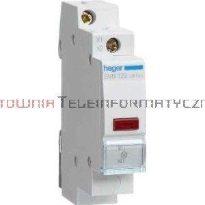 HAGER Lampka sygnalizacyjna – 1 fazowa 230V (czerwona)