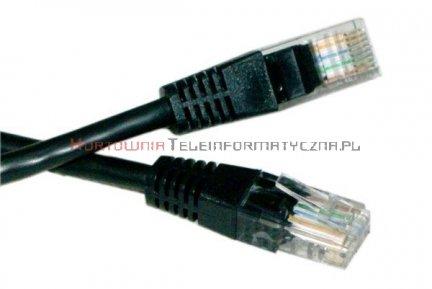 UTP Patch cord 5,0 m. Kat.5e  czarny