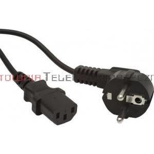 Kabel zasilający komputerowy z uziemieniem 230/C13 - 1,8m