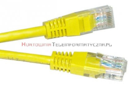UTP Patch cord 1,0 m. Kat.5e żółty