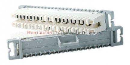Łączówka LSA 2/10 rozłączna z kodem  0-9 (biała-szara)