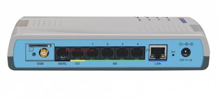 SLICAN centrala IPS-08.101 1xLAN, 1xPSTN, 1xGSM, 4ab, 8VoIP/REC, 16IP, Rel/Sen