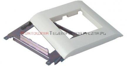 EBOX Ramka+support metalowy 45mm 2 modułowa