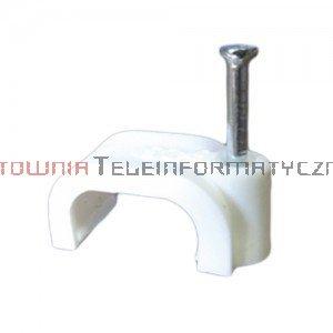 Uchwyt kablowy typu FLOP z gwoździem, na kabel płaski 10/6 mm (100 szt.)