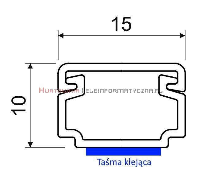 KOPOS Kanał / Koryto kablowe LH 15x10 2m z taśmą klejącą