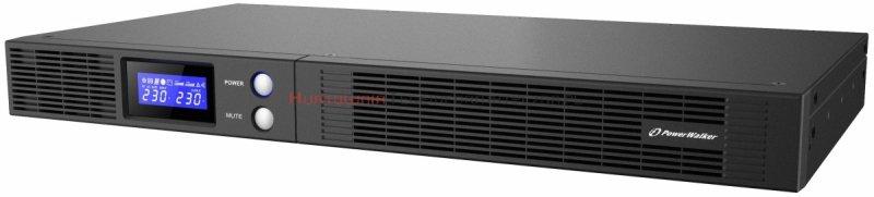 """Power Walker, UPS Rack 19"""" 1U, 500VA/300W, LCD, USB"""