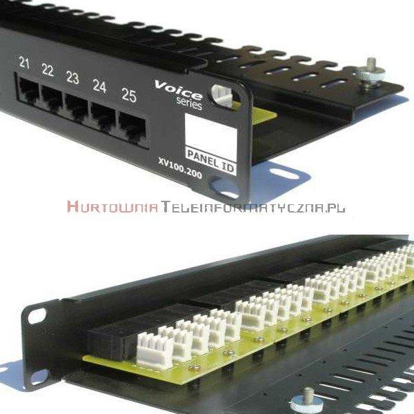 FIBRAIN DATA Voice Patch Panel 25 ports RJ45 Kat.3 z półką i polem opisowym