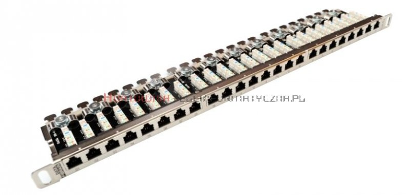 FIBRAIN DATA Rapid FTP Patch Panel 0,5U 24 ports RJ45 Kat.6A z półką