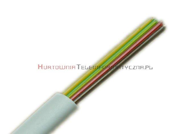 Kabel telefoniczny płaski 4-żyłowy biały krążek 100m