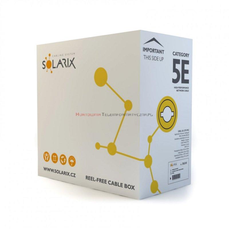 SOLARIX kabel U/UTP, linka, PVC, szary, kat.5e
