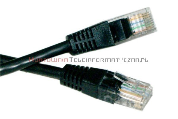 UTP Patch cord 0,5 m. Kat.6 czarny