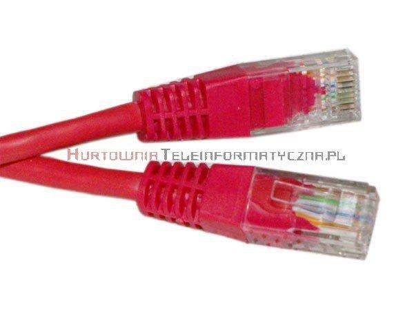 UTP Patch cord 3,0 m. Kat.5e czerwony