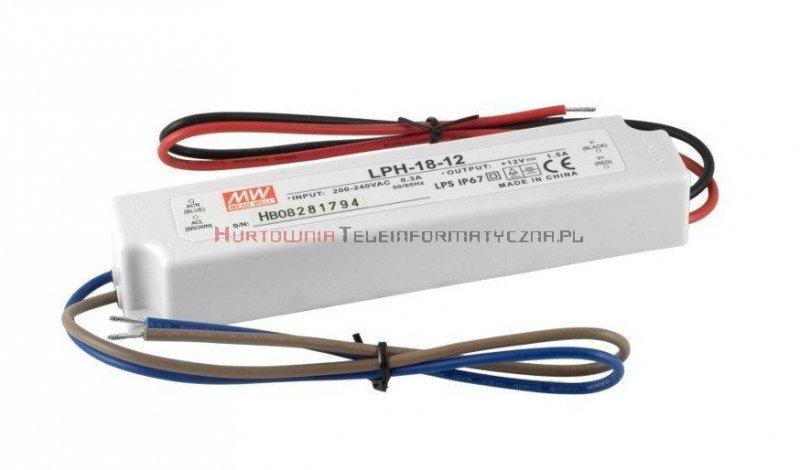 MPL zasilacz impulsowy 12V/1,5A IP67