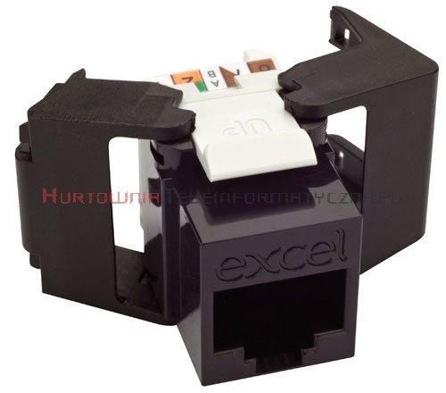 EXCEL keystone kat.5 UTP czarny, Low Profile, beznarzędziowy
