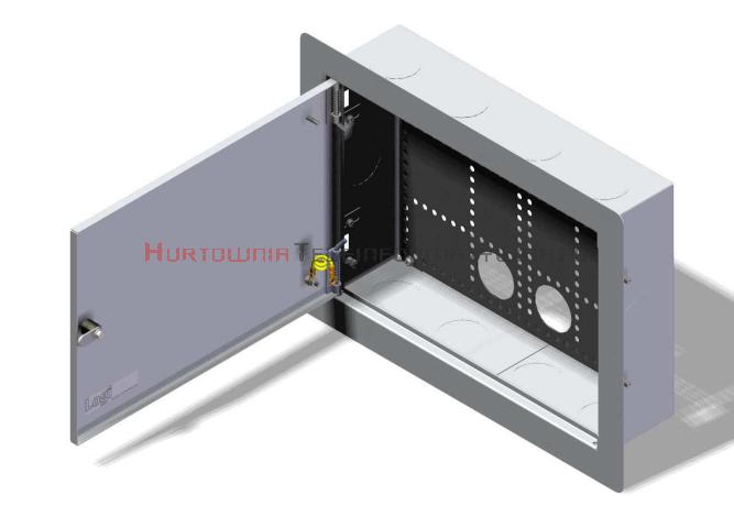 LogiWire Szafka multimedialna podtynkowa 370x270x110