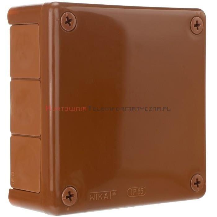 Puszka elektr. hermetyczna natynkowa 110x110mm IP55 WIKAT, brązowa