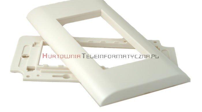 EBOX Ramka+support plastikowy 45mm 4 modułowa