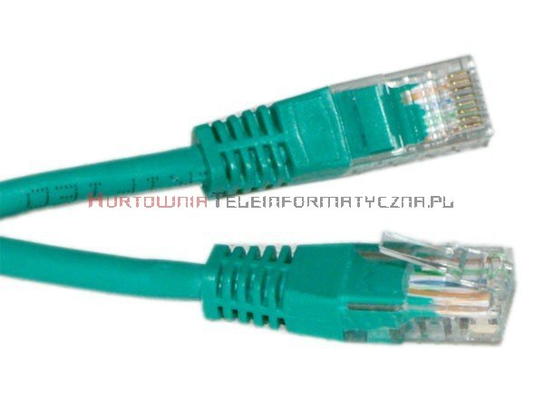 UTP Patch cord 5,0 m. Kat.6 zielony