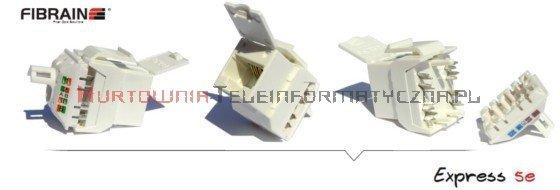 FIBRAIN DATA Express UTP keystone RJ45 Kat. 5e+ beznarzędziowy