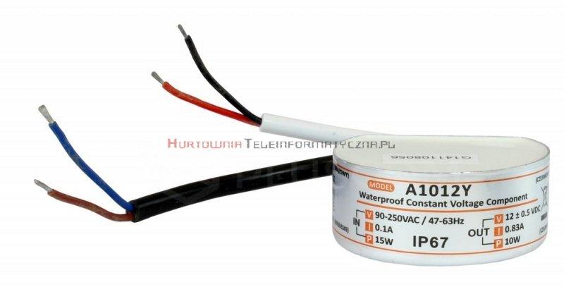 MW POWER zasilacz impulsowy 12V/0,83A IP67 do puszki Fi60