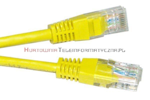 UTP Patch cord 10,0 m. Kat.5e żółty