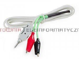 Kabel pomiarowy do złącz telefonicznych typu LSA/KRONE 2P, złącza krokodylki