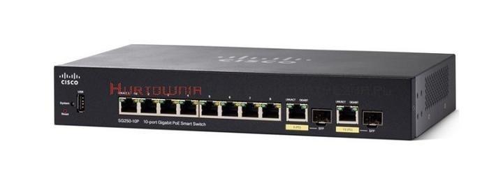 CISCO SG250 Switch zarządzalny 8-port PoE+ Gigabit, 2 x SFP
